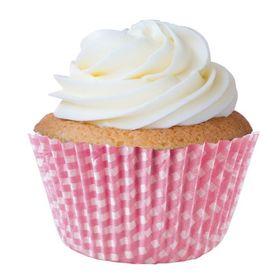 Forminha-Cupcake-Xadrez-Rosa-Bebe-N.0---900Un